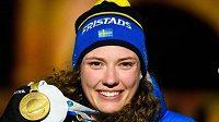 Švédská biatlonistka Hana Öbergová.