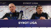 Hlavní trenér Sigmy Olomouc Václav Jílek a sportovní manažer klubu Ladislav Minář (vpravo) před zahájením jarní části sezóny.