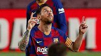 Barcelonská hvězda Lionel Messi.