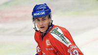 Český útočník Tomáš Nosek na archivním snímku z utkání Euro Hockey Challenge s Norskem v dubnu 2014 v Havlíčkově Brodu.