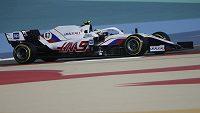 Mick Schumacher při testech v Bahrajnu.