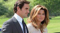 Roger Federer se svou ženou Mirkou
