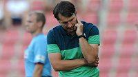 Zadumaný jablonecký trenér Roman Skuhravý.