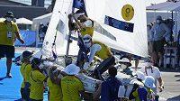 Australští jachtaři Belcher s Ryanem získalo olympijské zlato ve třídě 470