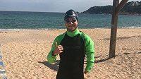Paralympijský plavec Schrenck Martínez narazil během tréninku na žraloky. Zdroj: Instagram @ariel_schrenck