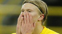 Erling Haaland bude Dortmundu chybět
