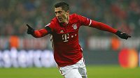 Kanonýr Bayernu Robert Lewandowski otevřel skóre zápasu s Atlétikem Madrid.