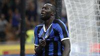 Romelu Lukaku se raduje z gólu v dresu Interu Milán.
