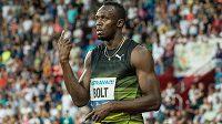 Usain Bolt na letošní Zlaté tretře v Ostravě.