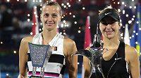 Petra Kvitová a vítězná Belinda Bencicová