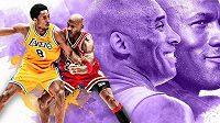 Michael Jordan a Kobe Bryant