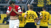 Český záložník Freiburgu Vladimír Darida na snímku z utkání 3. kola bundesligy s Dortmundem.