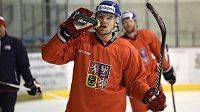 Rostislav Klesla na archivním snímku z tréninku hokejové reprezentace.