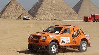 Ukrajinský závodník Vadim Něstěrčuk během Rallye Faraónů v Egyptě (ilustrační foto).