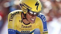 Alberto Contador na trati časovky během letošního ročníku Vuelty.