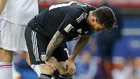 Sobota nebyla jeho dnem! Zklamaný Lionel Messi během utkání s Islandem.