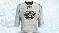 Speciální dresy, které hokejisté Sparty obléknou v nedělním duelu s Plzní.