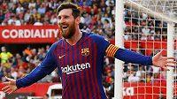 Barcelonský Lionel Messi si podmanil stadion, na němž brzy vyběhne i Slavia.