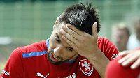 Milan Baroš odchází z tréninku týmu v polské Vratislavi