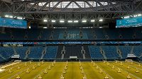 Fotbalové soutěže v Rusku se kvůli pandemi nebudou hrát minimálně do konce května (ilustrační foto)