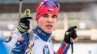 Michal Krčmář byl z českých biatlonistů ve sprintu SP v Oberhofu nejlepší.