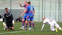 To byla plzeňská jízda! Střelec Michael Krmenčík zaznamenal proti polské Legii dva góly a Západočeši vyhráli 5:1.