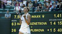Kristýna Plíšková si letošní Wimbledon užívá. Postoupila už do 3. kola.