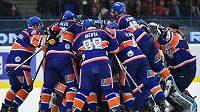 Hokejisté Litoměřic se radují z vítězství