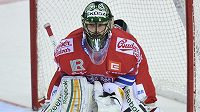 Český brankář Alexander Salák se v duelu Euro Hockey Tour v Liberci proti Švédsku blýskl výborným výkonem.