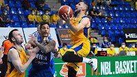 Druhý semifinálový duel basketbalové ligy mezi Opavou a Kolínem.