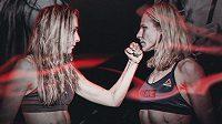 Lucie Pudilová (vlevo) a Justine Kishová na galavečeru UFC. Která vyhraje?