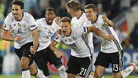 Rozhodnuto! Němečtí fotbalisté se radují z postupu do semifinále ME.
