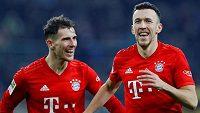 Fotbalista Bayernu Mnichov Ivan Perišič oslavuje gól během utkání bundesligy proti Borussii Mönchengladbach