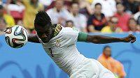 Asamoah Gyan se touto hlavičkou postaral o vyrovnání duelu s Portugalskem.