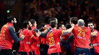 Španělská radost po postupu do finále ME.