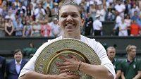 Wimbledonská šampionka Simona Halepová nedala Sereně Williamsové ve finále šanci