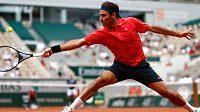 Roger Federer v utkání s Marinem Čiličem