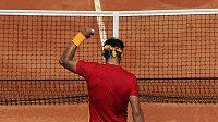 Rafael Nadal se raduje z výhry v Davisově poháru