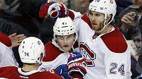 Hokejisté Montrealu se radují z gólu - ilustrační foto.