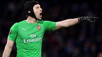 Petr Čech v brance londýnského Arsenalu