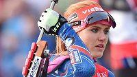 Gabriela Soukalová představila na exhibičním mistrovství České republiky v biatlonovém supersprintu s novým odstínem vlasů.