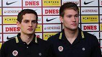 Nové posily Sparty Tomáš Vaclík (vpravo) a Mario Holek