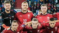 Český tým před zápasem kvalifikace o MS 2022 s Běloruskem.
