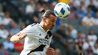 Zlatan Ibrahimovic v dresu Los Angeles Galaxy.
