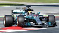 Brit Lewis Hamilton vyhrál kvalifikaci na Velkou cenu Španělska F1.