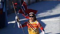 Norka Therese Johaugová si jede pro celkový triumf v Tour de Ski.