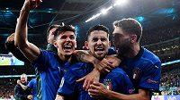 Italská radost! Svěřenci trenéra Roberta Manciniho si zahrají na EURO o titul.