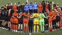 Fotbalistky v zámořské NWSL krátce přerušily hru v 6. minutě středečních zápasů