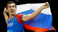 Ruský překážkářský šampion Sergej Šubenkov.