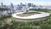 Vítězný návrh olympijského stadiónu v Tokiu.
